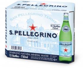 Woda gazowana Sanpellegrino, 0.75l, 15 sztuk