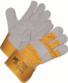 Rękawice wzmacniane Prosave, Jobsafe Sahara, rozmiar 10, biało-żółty