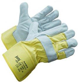 Rękawice wzmacniane Prosave Jobsafe NAMIB, rozmiar 10, biało-żółty