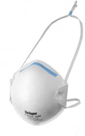 Półmaska Dräger 1320 FFP2 NR D, z błękitnym klipsem nosowym, biały