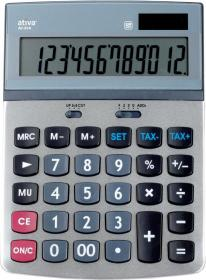 Kalkulator biurowy Ativa AT-814, 12 cyfr, srebrny