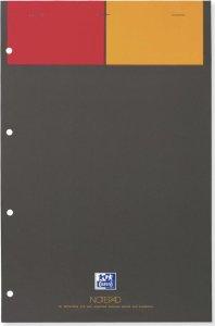 Blok biurowy w kratkę Oxford International Notepad, A4+, twarda oprawa, 80 kartek, szary