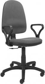 Krzesło obrotowe Nowy Styl Bravo CU73, profil GTP, szaro-czarny