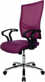 Krzesło obrotowe Realspace Pro Sydney, purpurowy