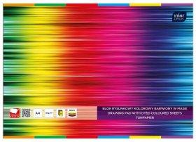 Blok rysunkowy Interdruk, A4, 20 kartek, kolorowy