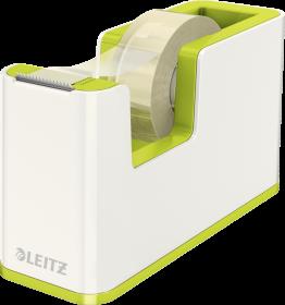 Podajnik do taśmy klejącej Leitz WOW, 19mmx33m, zielony