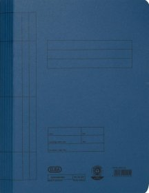 Skoroszyt kartonowy bez oczek Elba, A4, do 100 kartek, 250g/m2, niebieski