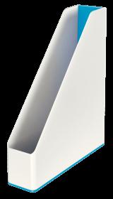 Pojemnik na dokumenty Leitz WOW, dwukolorowy, A4, 73mm, biało-niebieski