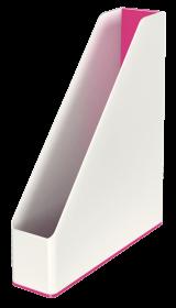 Pojemnik na dokumenty Leitz WOW, dwukolorowy, A4, 73mm, biało-różowy