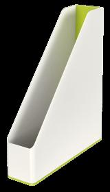 Pojemnik na dokumenty Leitz WOW, dwukolorowy, A4, 73mm, biało-zielony