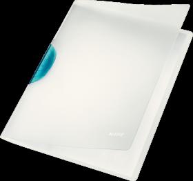 Skoroszyt  plastikowy z klipsem Leitz Magic, A4, do 30 kartek, jasnoniebieski