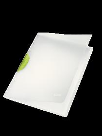 Skoroszyt  plastikowy z klipsem Leitz Magic, A4, do 30 kartek, zielony