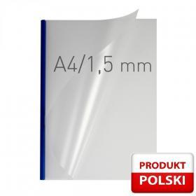 Okładka kanałowa easy Cover Double Semi Matt Opus, A4, 1.5mm, do 15 kartek, niebieski