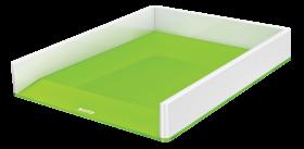 Półka na dokumenty Leitz Wow, A4, plastikowa, dwukolorowa, biało-zielony