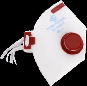 Półmaska filtrująca FilterService FS-58V P3, czerwony