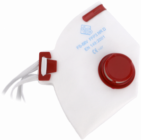 Półmaska filtrująca FilterService FS-58V FFP3, czerwony
