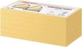 Notes samoprzylepny Office Depot, 76x76mm, 12x100 kartek, żółty pastelowy