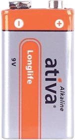 Bateria alkaliczna Ativa Longlife, 9V, 3 sztuki