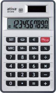 Kalkulator kieszonkowy Ativa AT-810, 10 cyfr, srebrny