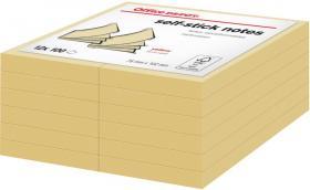 Notes samoprzylepny Office Depot, 76x102mm, 12x100 karteczek, żółty pastelowy
