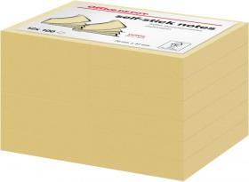 Notes samoprzylepny Office Depot, 76x51mm, 12x100 karteczek, żółty pastelowy