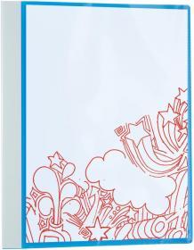 Segregator prezentacyjny Office Depot, A4, szerokość grzbietu 35mm, do 200 kartek, 4 ringi, niebieski