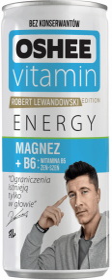 Napój Oshee Vitamin Energy, Magnez + witamina B6, puszka, 250ml