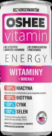 Napój Oshee Vitamin Energy, Witaminy + minerały + Żeń-Szeń, puszka, 250ml