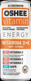 Napój izotoniczny Oshee Vitamin Energy, witamina D, K, C + wapń, puszka, 250ml