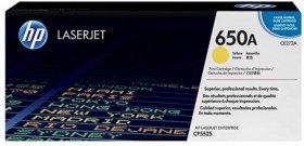Toner HP 650A (CE272A), 15000 stron, yellow (żółty)