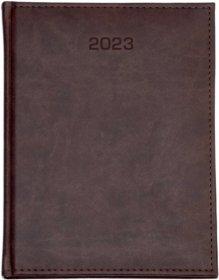 Kalendarz książkowy Udziałowiec 2020, Nebraska, A4, tygodniowy, 80 kartek, brązowy A