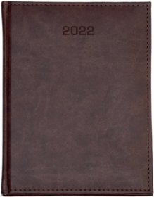 Kalendarz książkowy Udziałowiec 2019, Nebraska, A4, tygodniowy, 160 kartek, brązowy A