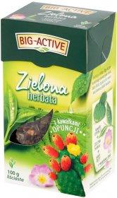 Herbata zielona smakowa liściasta Big-Active, z kawałkami opuncji, 100g