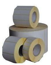 Etykiety termotransferowe, 50x30 mm, 1000 sztuk, biały