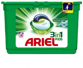 Ariel kapsułki do prania, kolor, 14 sztuk, mountain spring