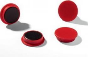 Magnesy Argo, 15 mm, 10 sztuk, czerwony