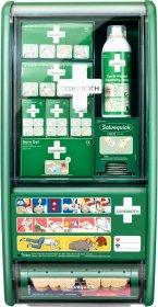 Apteczka ścienna Cederroth First Aid Station, z wyposażeniem, zielony