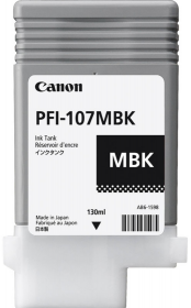 Tusz Canon PFI-107MBK, 130 ml, matte black (czarny matowy)