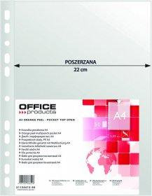 Koszulki groszkowe Office Products, poszerzane, A4, 90 µm, 50 sztuk, transparentny