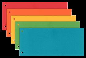 Przekładki kartonowe gładkie Esselte Maxi, 1/3 A4, 100 sztuk,  mix kolorów