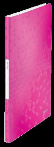 Album ofertowy Leitz WOW, A4, 20 koszulek, metaliczny różowy