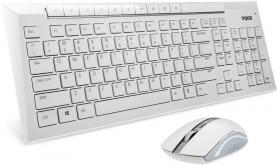 Zestaw bezprzewodowy Rapoo 5G 8200P klawiatura + mysz, biały