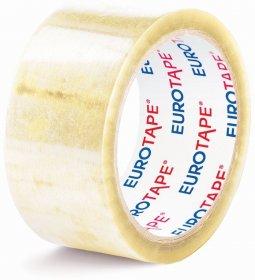 Taśma pakowa Eurotape, 36mmx60m, transparentny