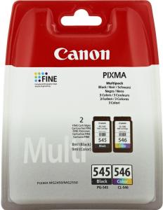 Tusz Canon 8287B005 (PG545/CL546), 2x8ml, 2 sztuki, CMYK cyan (błękitny), magenta (purpurowy), yellow (żółty), black (czarny)