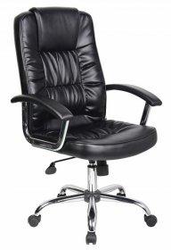Fotel biurowy Office Products Cyprus, ekoskóra, czarny