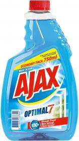 Płyn do mycia szyb Ajax Optimal 7, zapas, 750ml