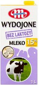 Mleko UHT Mlekovita Wydojone, bez laktozy, 1,5%, 1l