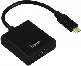 Adapter USB Typ C do HDMI Hama, Ultra HD, czarny