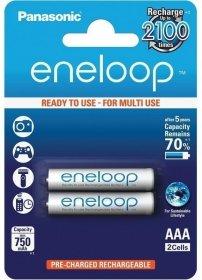 Akumulator Panasonic Eneloop, AAA, 750mAh, 2 sztuki