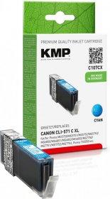 Tusz KMP C107CX (CLI-571C XL), 715 stron, 11ml, cyan (błękitny)
